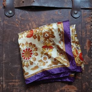 Gold Silk Scarf